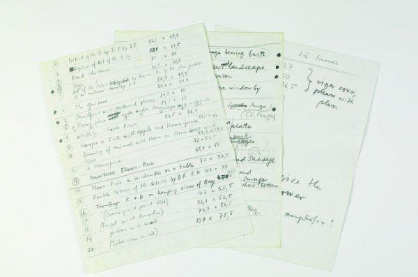 """Escrit original de la relació d'exposicions relaitzades sota el nom de """"Collaborations"""""""