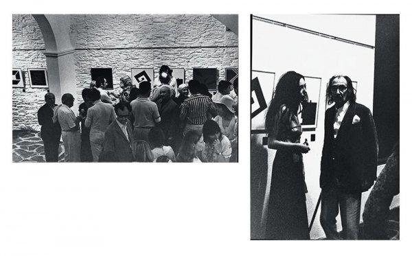 [Fotografies de la inauguració d'una exposició a la Galeria Cadaqués]