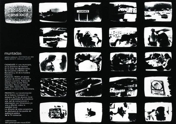Cartell de l'exposició a la Galeria Cadaqués: Cadaqués Canal Local