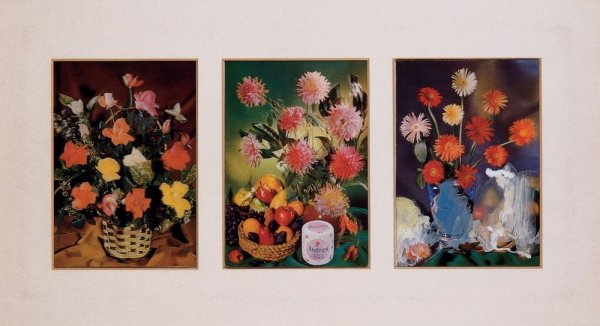 Flower-Piece Postcards a-c