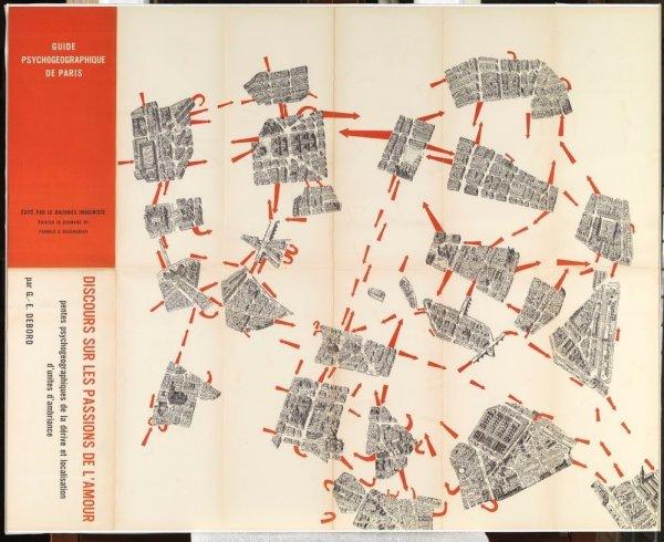 Guide psychogéographique de Paris: discours sur les passions de l'amour: pentes psychogéographiques de la dérive et localisation d'unités d'ambiance