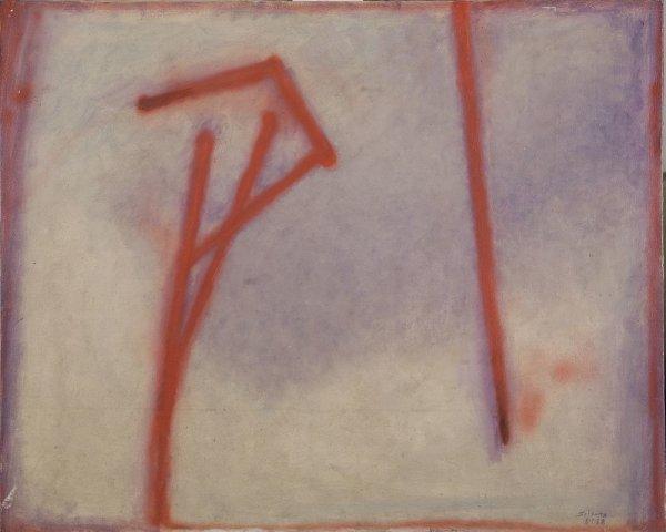 Lirio rojo sobre blanco