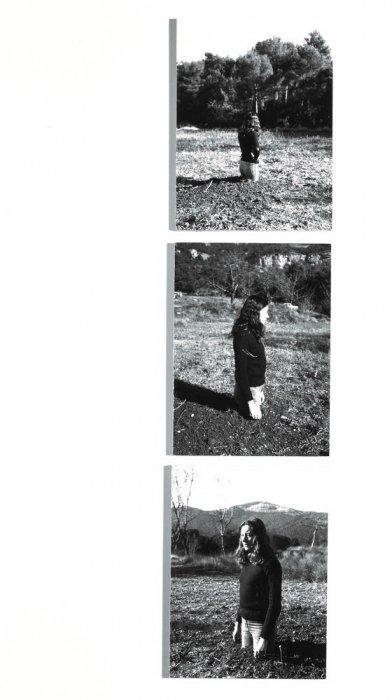 Traslaciones. Mujer-árbol [Documentación de la acción realizada en noviembre de 1973 en Sant Llorenç del Munt, España]