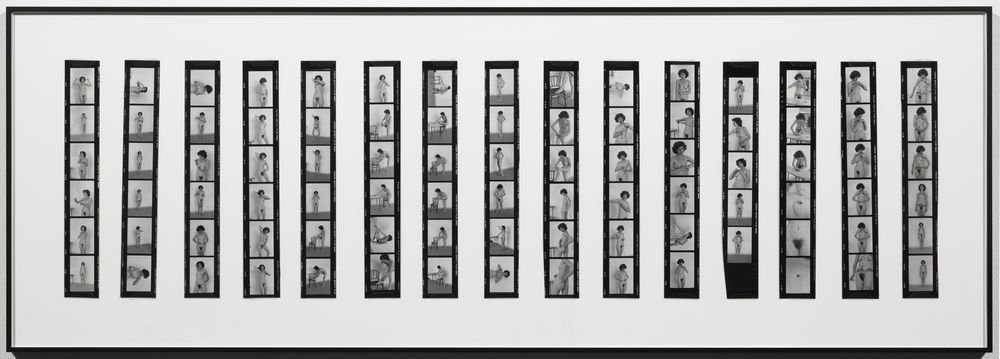 Íntimo y personal [Documentación de la acción realizada en 1977 en el taller de Fernando Lerín en París. Fotógrafa: Ethel Blum]  Íntimo y personal. Documentación de la acción realizada el 1977 en el Studio Lerin de Paris [Fotógrafa: Ethel Blum]