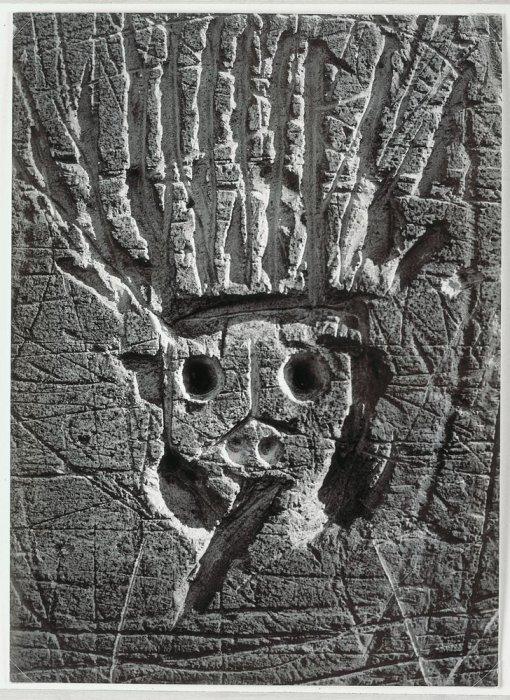 "The Sun King (Saint-Ouen's Door). Graffiti. IX Series: ""Primitive Images"""