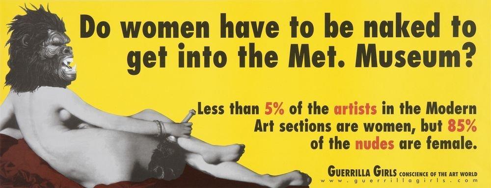 ¿Tienen que ir desnudas las mujeres para entrar en el Metropolitan Museum?