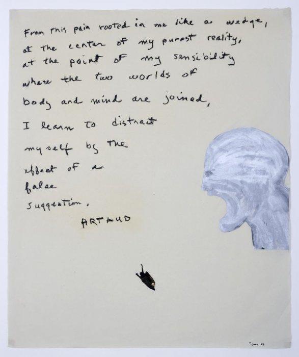 Pintura d'Artaud – Des d'aquest dolor…