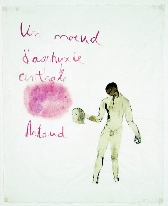 Artaud Painting – A Central Suffocation Knot