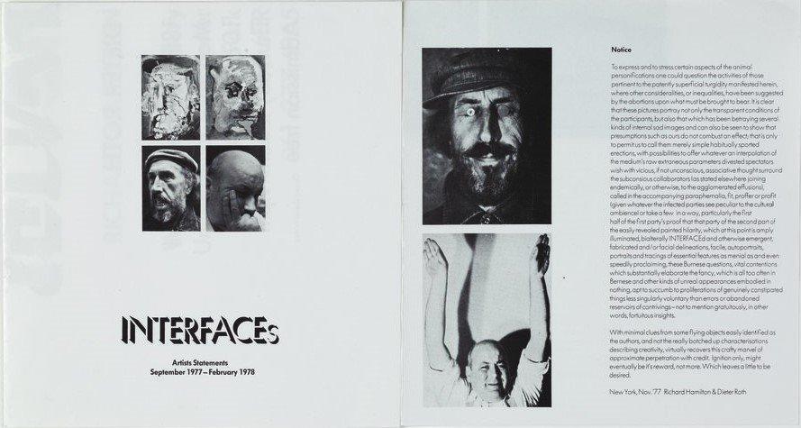 INTERFACEs, declaracions d'artistes, setembre de 19977 - febrer de 1978