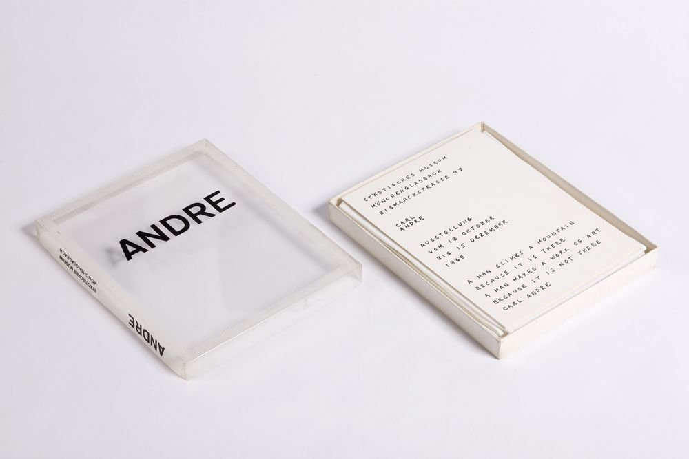 Carl Andre. Exhibiton from 18 October to 15 December, 1968, Mönchengladbach State Museum