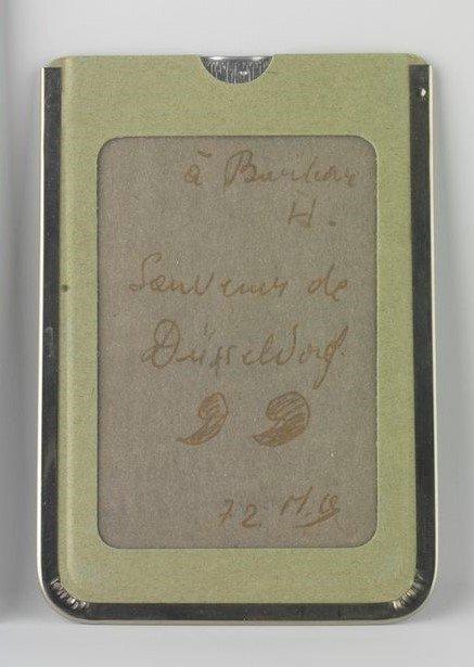 [To Barbara H., Souvenir from Düsseldorf/72 M.B.]