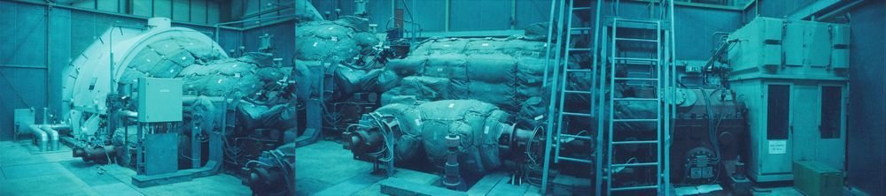 """Gas Turbine, Gas Natural Thermic Plant, Besòs. Series: """"Methane for all"""""""