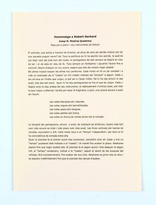 Homenatge a Robert Gerhard