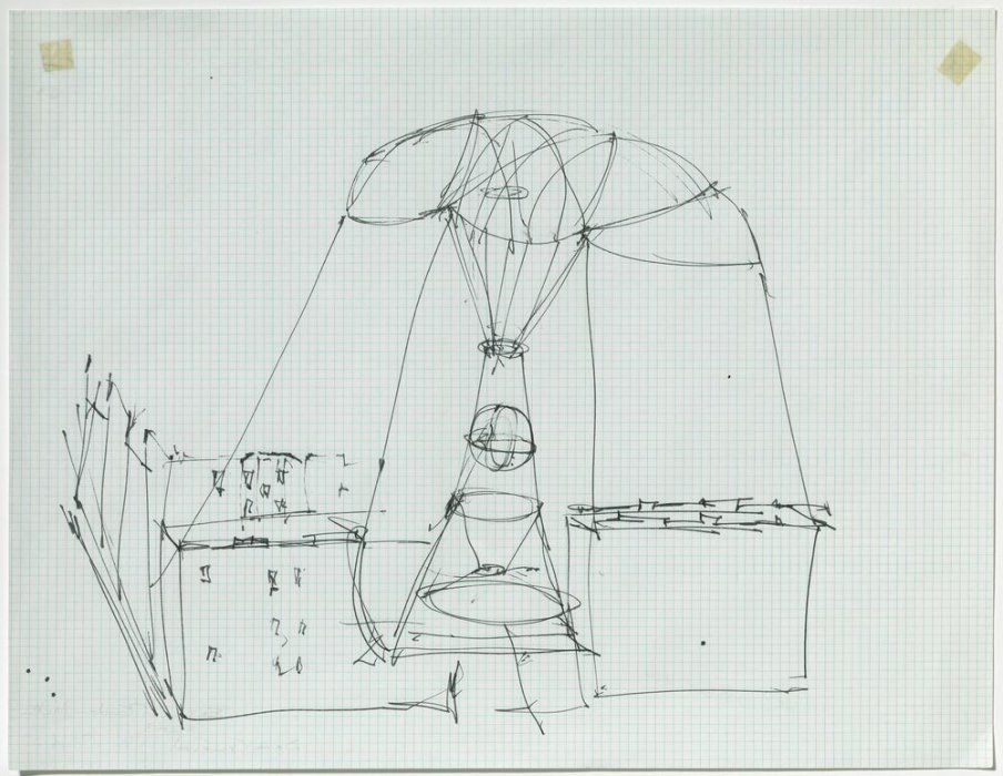 Sky Hook (Study for a Balloon Building)