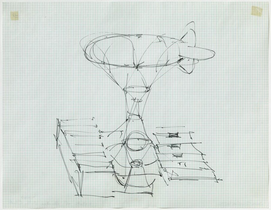 Gancho celeste (estudio para un edificio globo)
