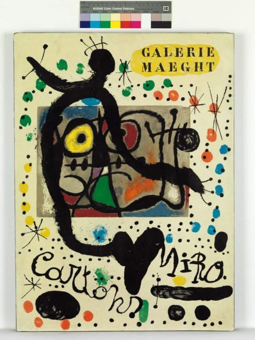 [Poster for the 'Cartons' exhibition by Joan Miró at Galerie Maeght, Paris]
