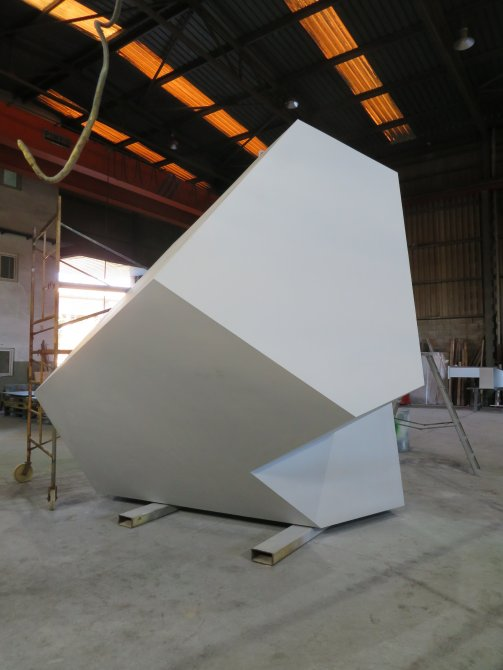 Sculpture with the first coat of primer