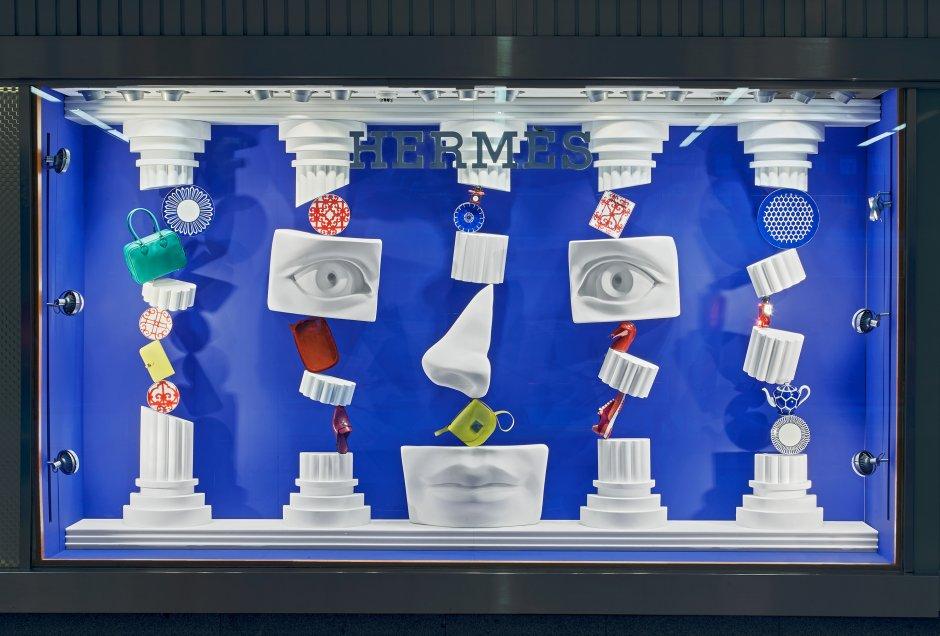 Hermès shop windows, Ana Domínguez