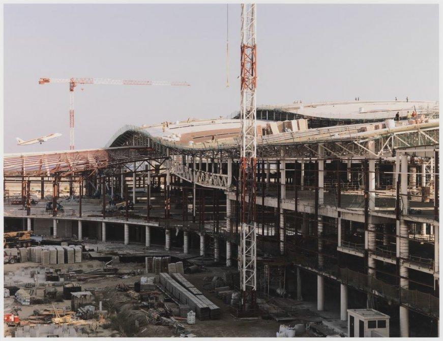 """Construcción de una nueva línea de metro, aeropuerto de Barcelona, Barcelona. Serie: """"Conexiones globales"""""""