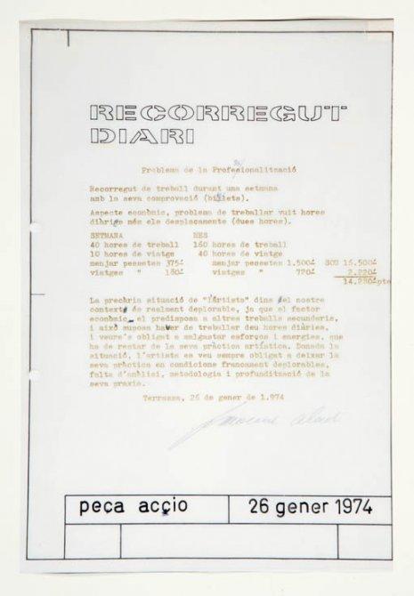 """Francesc Abad """"Recorregut diari"""", 1974"""