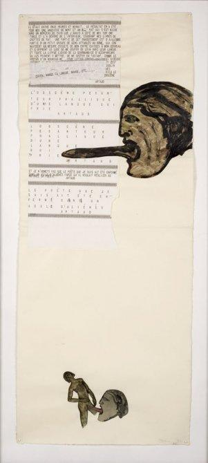 """Nancy Spero """"Codex Artaud XVII"""" 1972"""
