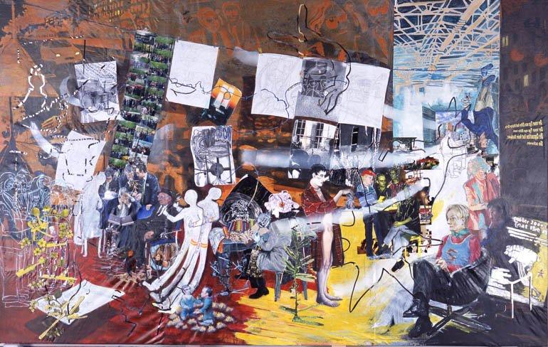 """Alice Creischer  """"L'atelier de la peintrice. Allégorie réelle déterminant une phase de sept années de ma vie artistique dans la République de Berlin"""", 2000"""