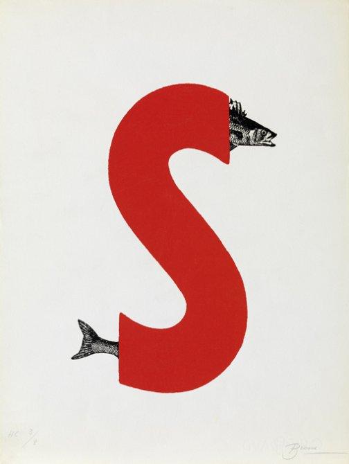 "Joan Brossa  ""Esse amb peix"""
