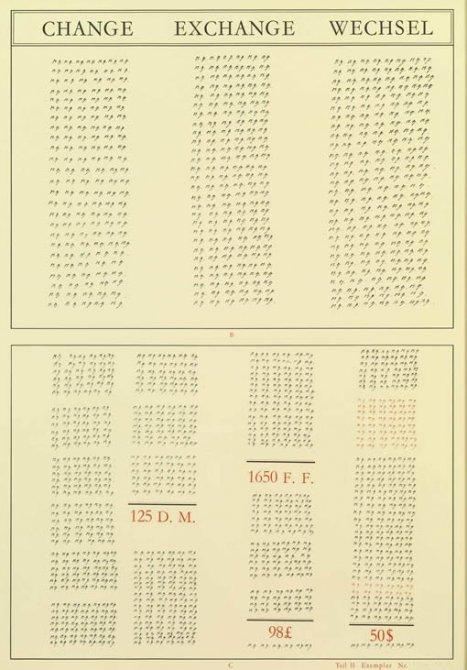 Marcel Broodthaers 'Gedicht - Poem - Poème / Change - Exchange - Wechsel', 1972