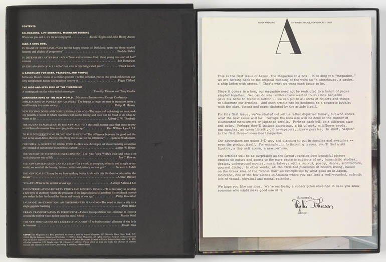 "ASPEN ""The Multimedia Magazine in a Box. Nº1. The Black Box"", 1965"