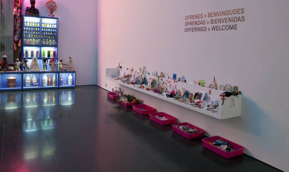 "Miralda's ""Holy Food"" exhibition view, which belongs to the exhibition ""The Art of the First Globalisation. Critical Episodes (1957-2011). MACBA Collection"", 2012-2013."