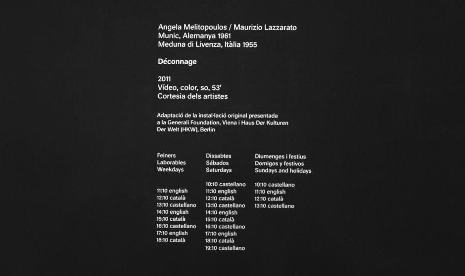 """Déconnage. Critic Episodes (1957-2011). MACBA Collection"" exhibition view, 2012-2013"