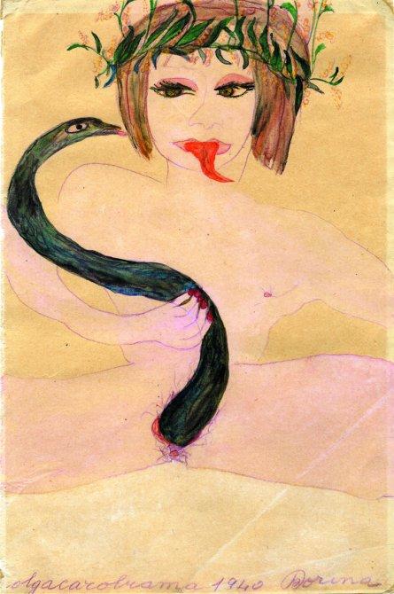 """Carol Rama """"Dorina"""", 1940 (detalle). Foto: Nick Ash. Cortesía del artista, colección privada, Colonia y Galerie Isabella Bortolozzi, Berlín."""
