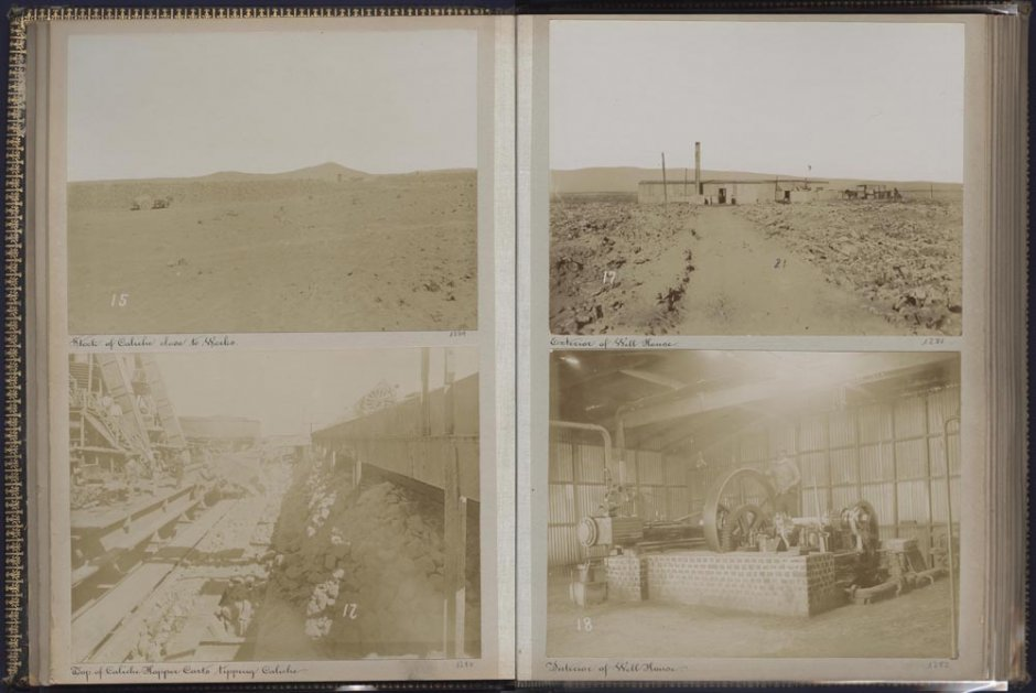 "Àlbum fotogràfic ""Oficina Alianza and Port of Iquique 1899"". Cortesia Museo Universidad de Navarra"