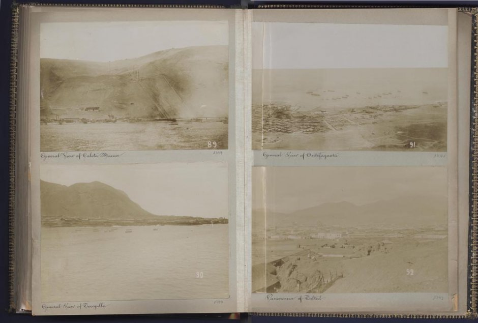 "Àlbum fotogràfic ""Oficina Alianza and Port of Iquique"", 1899. Cortesia Museo Universidad de Navarra"