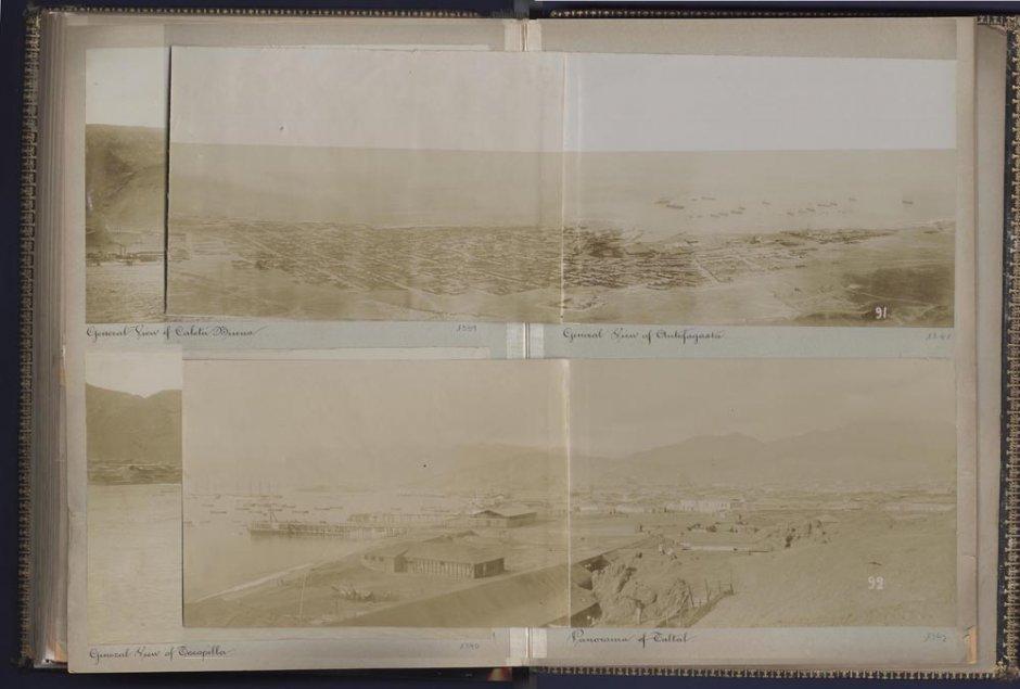 Photographic album 'Oficina Alianza and Port of Iquique', 1899. Courtesy of Museo Universidad de Navarra
