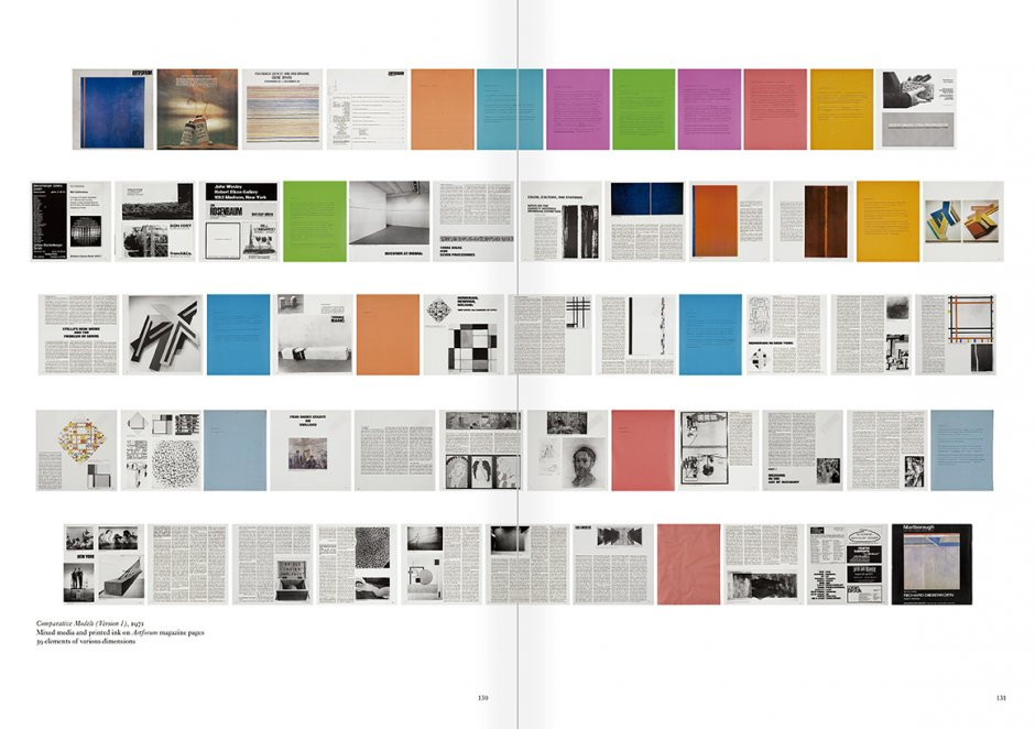 Selection from the catalogue 'Art & Language. Uncompleted', pages  132 and 133