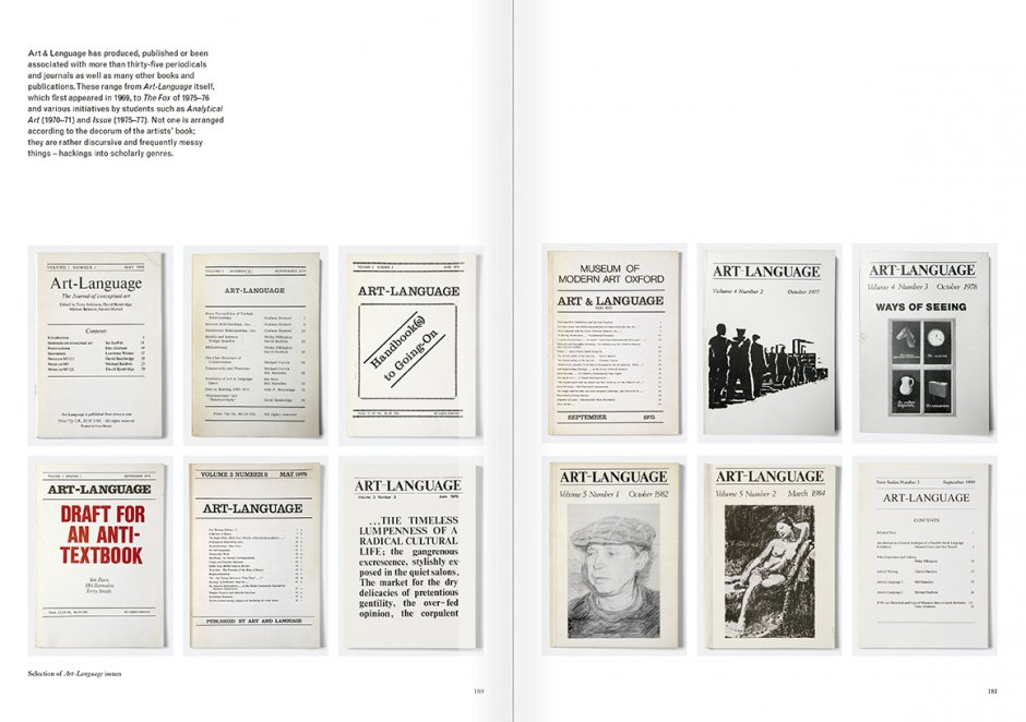 Selection from the catalogue 'Art & Language. Uncompleted', pages  180 and 181