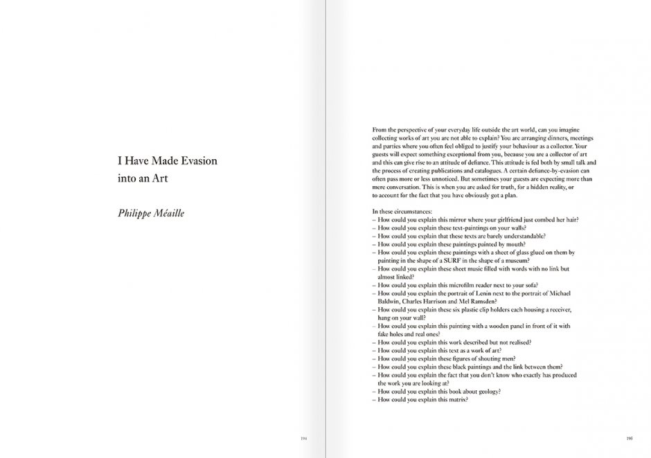 """Selección del catálogo """"Art & Language. Incompleto"""", páginas 194 y 195"""