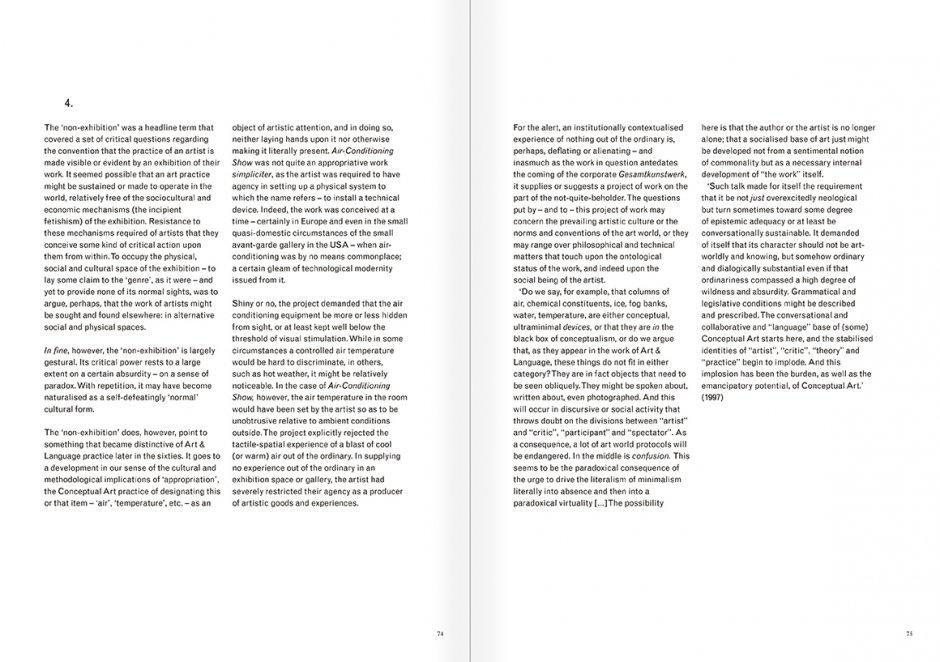 """Selección del catálogo """"Art & Language. Incompleto"""", páginas 74 y 75"""