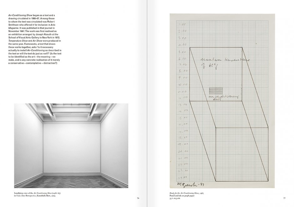 Selection from the catalogue 'Art & Language. Uncompleted', pages  76 and 77