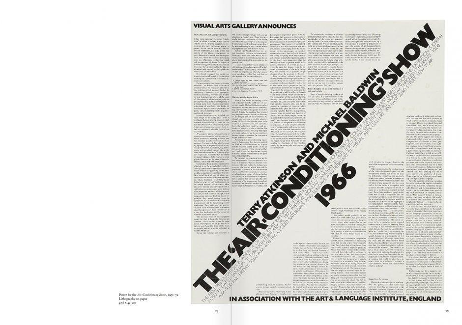 """Selección del catálogo """"Art & Language. Incompleto"""", páginas 78 y 79"""