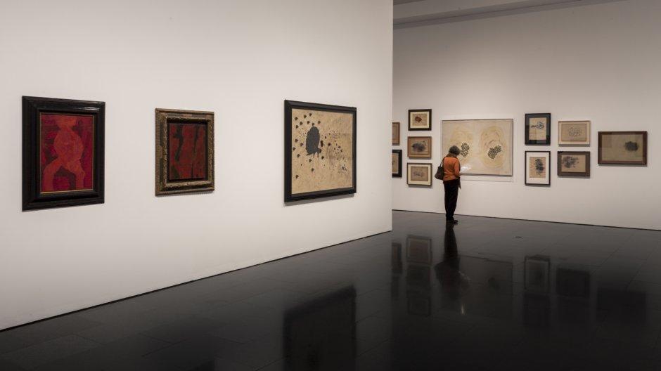 """Vistas de la exposición """"La pasión según Carol Rama"""", 2014-2015 Foto: Rafael Vargas"""
