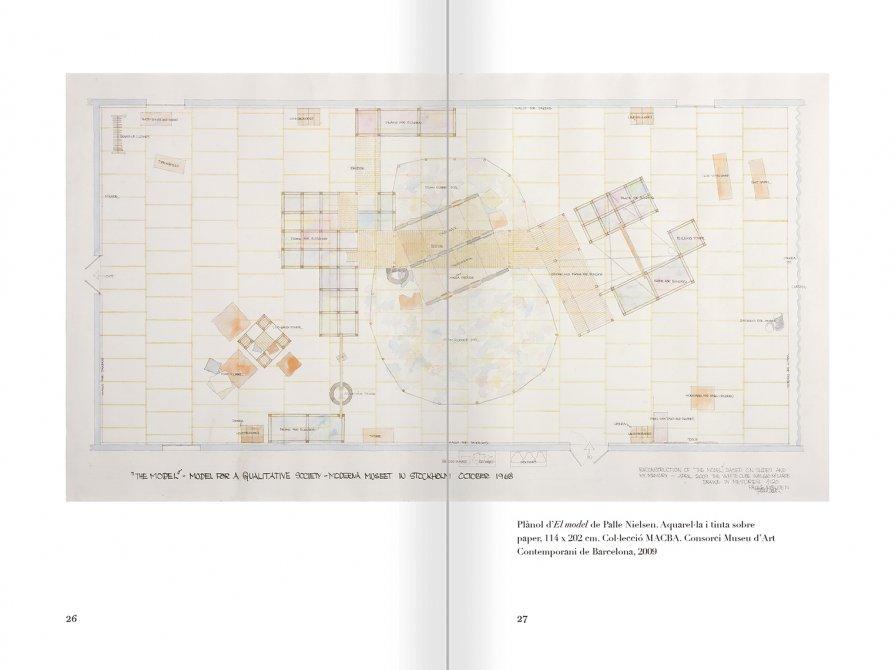 """Selecció del catàleg """"Palle Nielsen. El model. Un model per a una societat qualitativa"""" pàgines 26 i 27"""