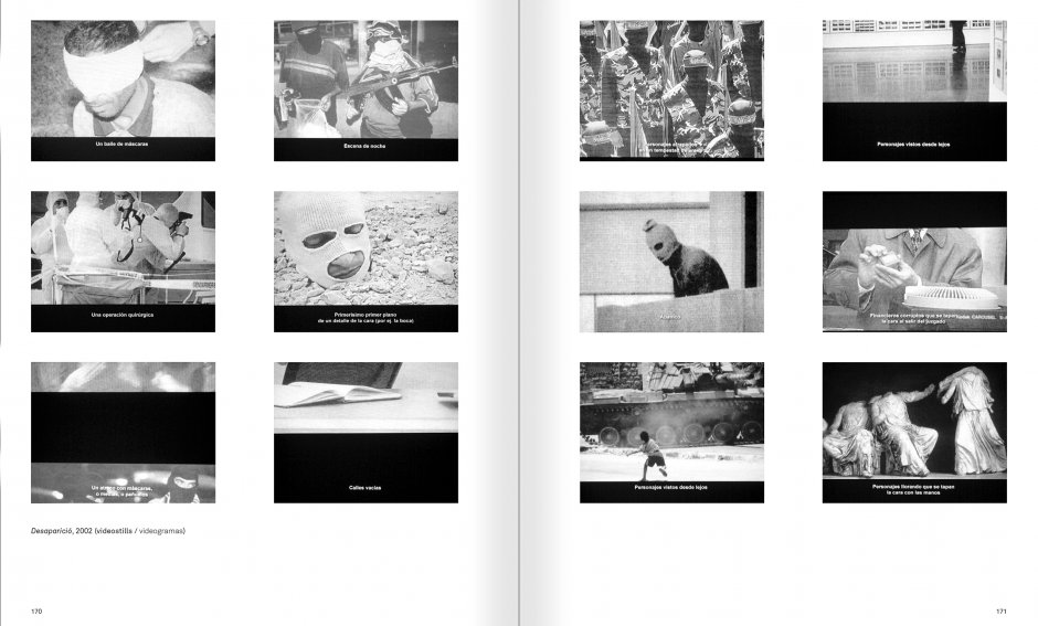 Selection from the catalogue 'Ignasi Aballí. 0-24 h', pages 170 and 171