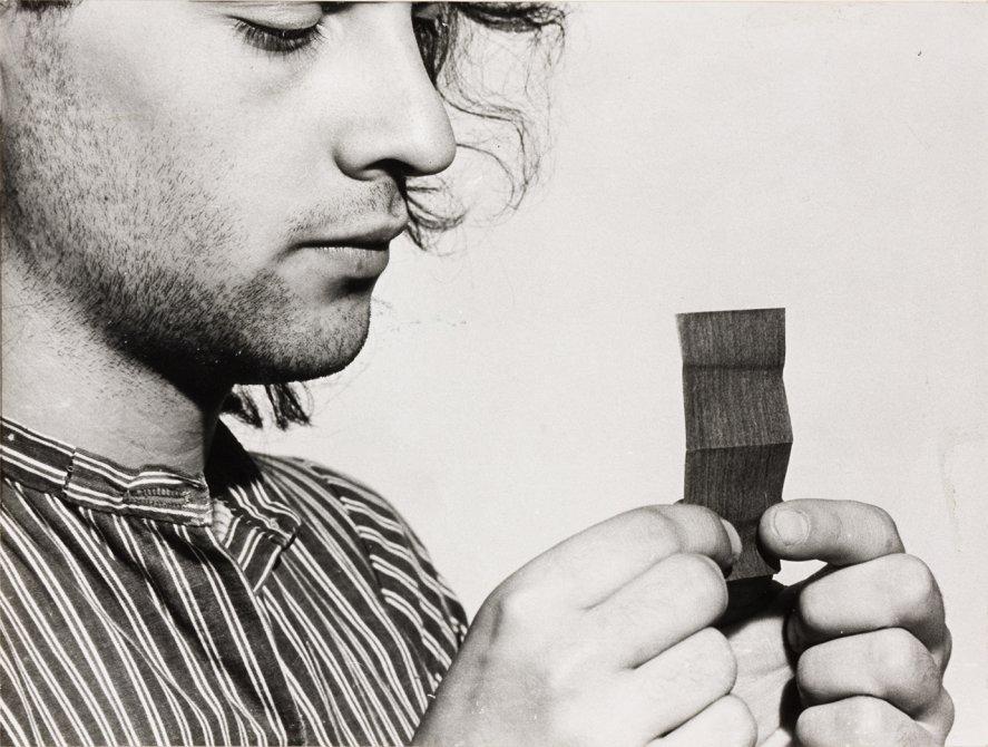 """Jordi Benito """"Acción sobre papel de fumar"""", 1972"""