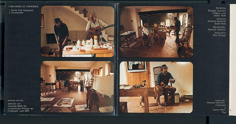 Richard Hamilton, Dieter Roth i Luis Chispas Canciones Cadaqués 1976 Col·lecció MACBA. Fundació MACBA. Donació Lanfranco Bombelli © Richard Hamilton, VEGAP, Barcelona, 2017 / © Dieter Roth, 2017