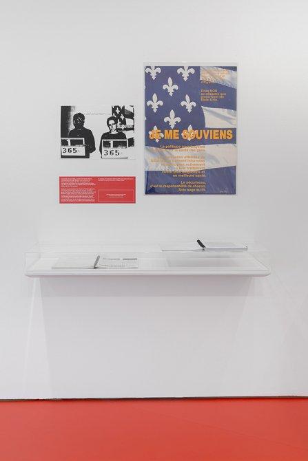 """Vistas de la exposición """"Anarchivo Sida"""", 2018"""