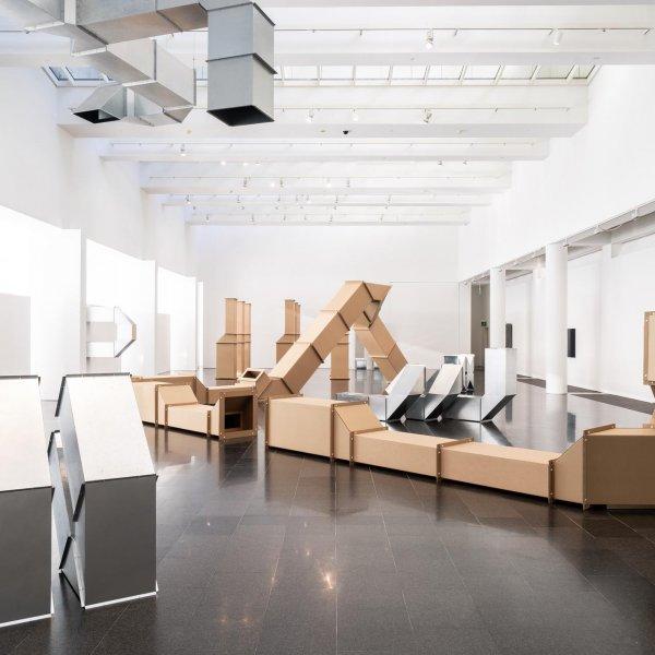 Exhibition views of 'Charlotte Posenenske: Work in Progress'. Photo: Miquel Coll