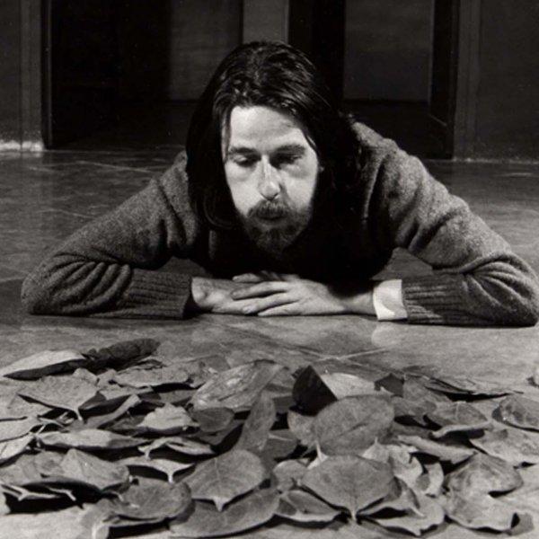 """Francesc Abad """"Acció (bufant fulles)"""", 1972"""
