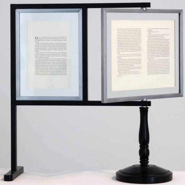 """Rodney Graham """"Reading Machine for Lenz"""", 1993"""